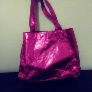 Small Metallic Pink Tote Bag